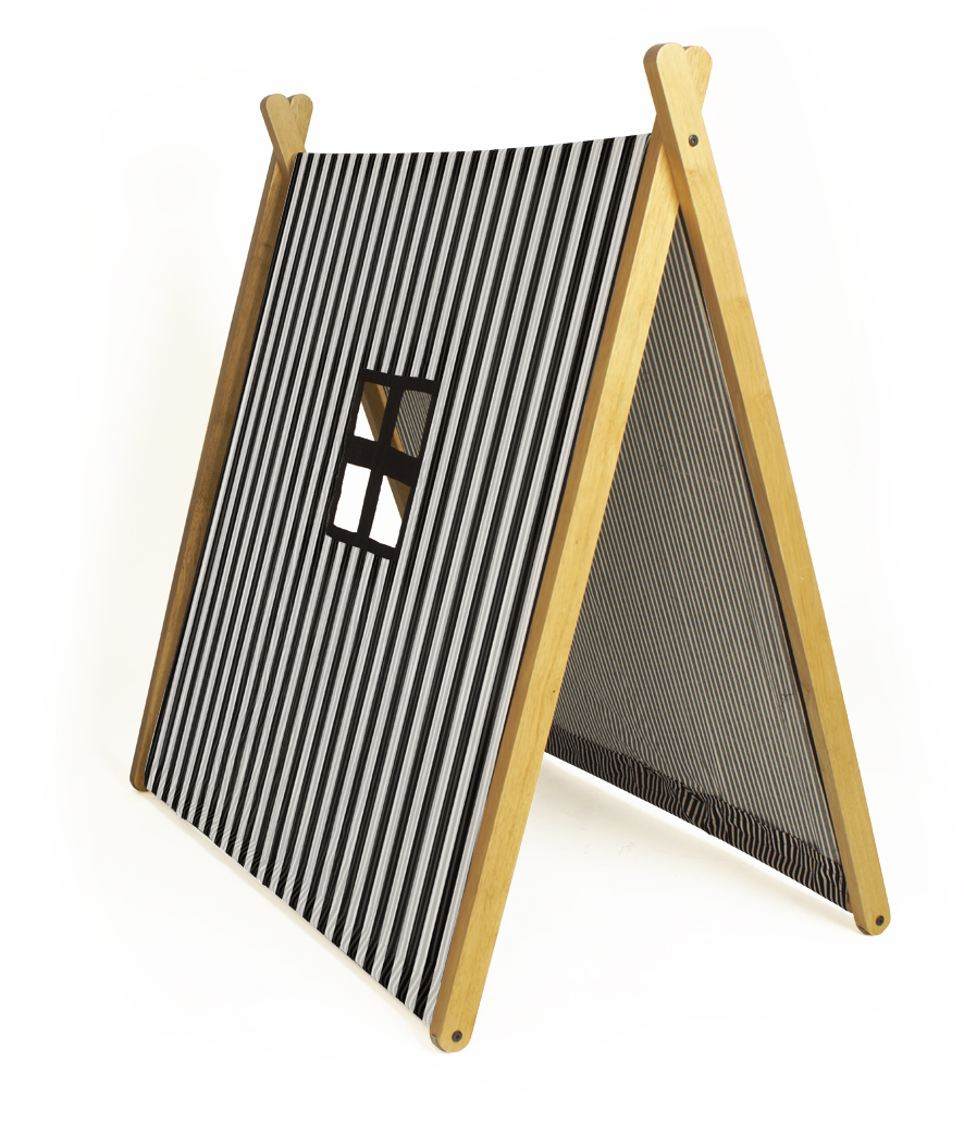 A Frame Tent - Black Stripes | Curioo Wooden Toys