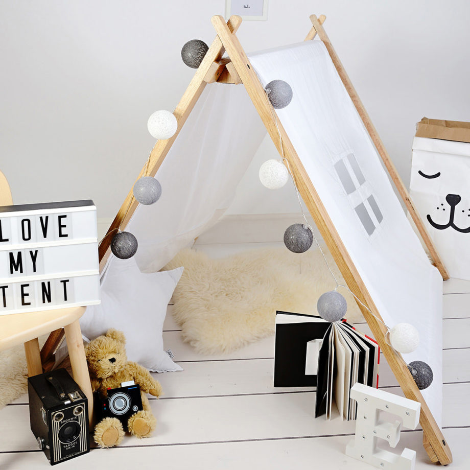 A-Frame Playhouse Tent - White